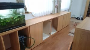 家具とウッドデッキ工事